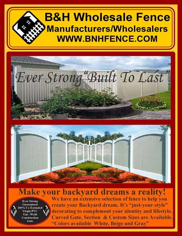 Vinyl Fence Brochure Pages